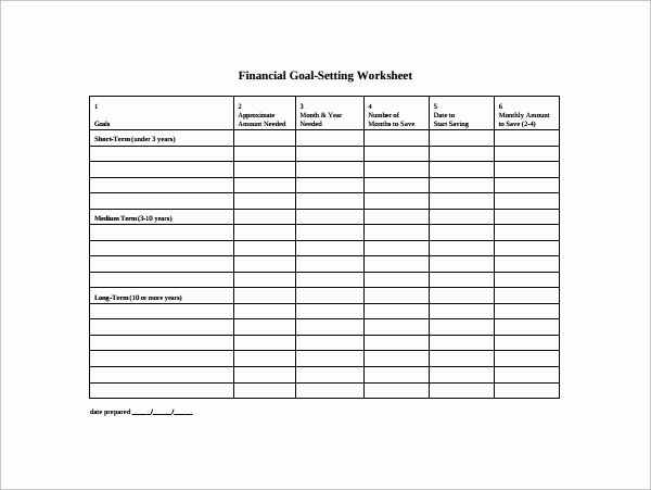 Business Goal Setting Template Elegant Free 12 Sample Goal Setting Templates In Pdf