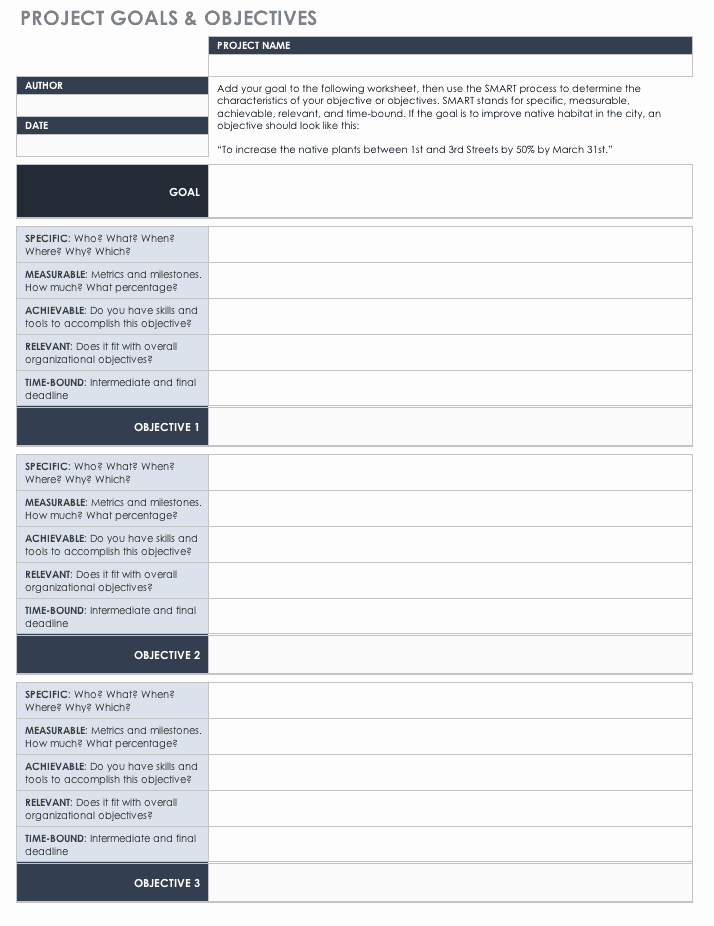 Business Goal Setting Template Fresh Free Goal Setting and Tracking Templates