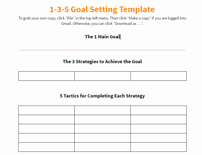 Business Goal Setting Template New 10 Effective Action Plan Templates You Can Use now
