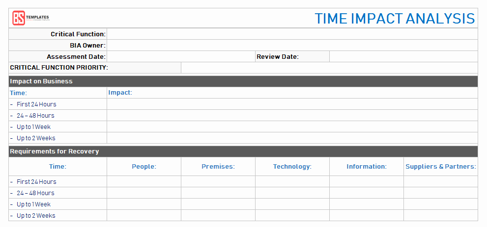 Business Impact Analysis Template Excel Beautiful Business Impact Analysis [bia] Steps Excel Templates