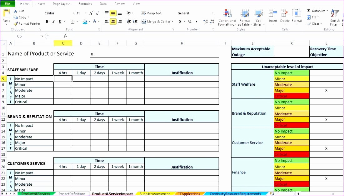 Business Impact Analysis Template Excel Elegant 10 Project Management Template Excel Free Exceltemplates