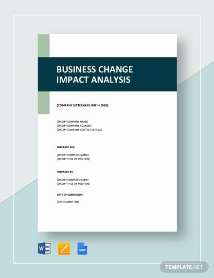 Business Impact Analysis Template Excel Elegant 8 Impact Analysis Examples In Word Pdf