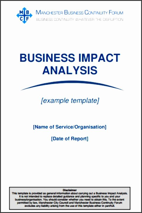 Business Impact Analysis Template Excel Fresh 5 Business Impact Analysis Template Word