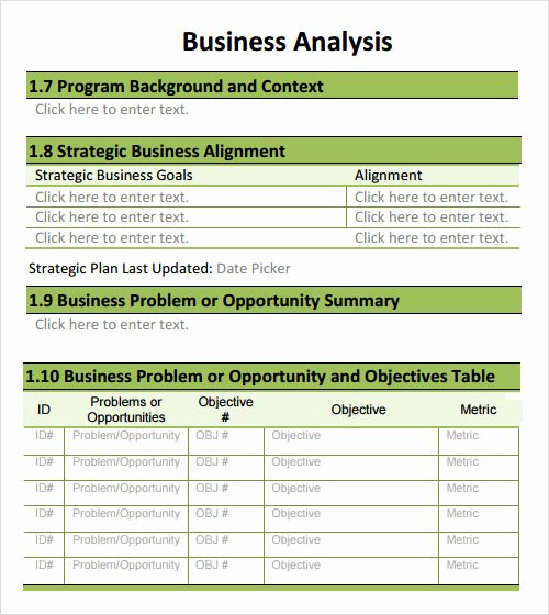 Business Impact Analysis Template Excel Lovely Free 30 Analysis Templates In Google Docs