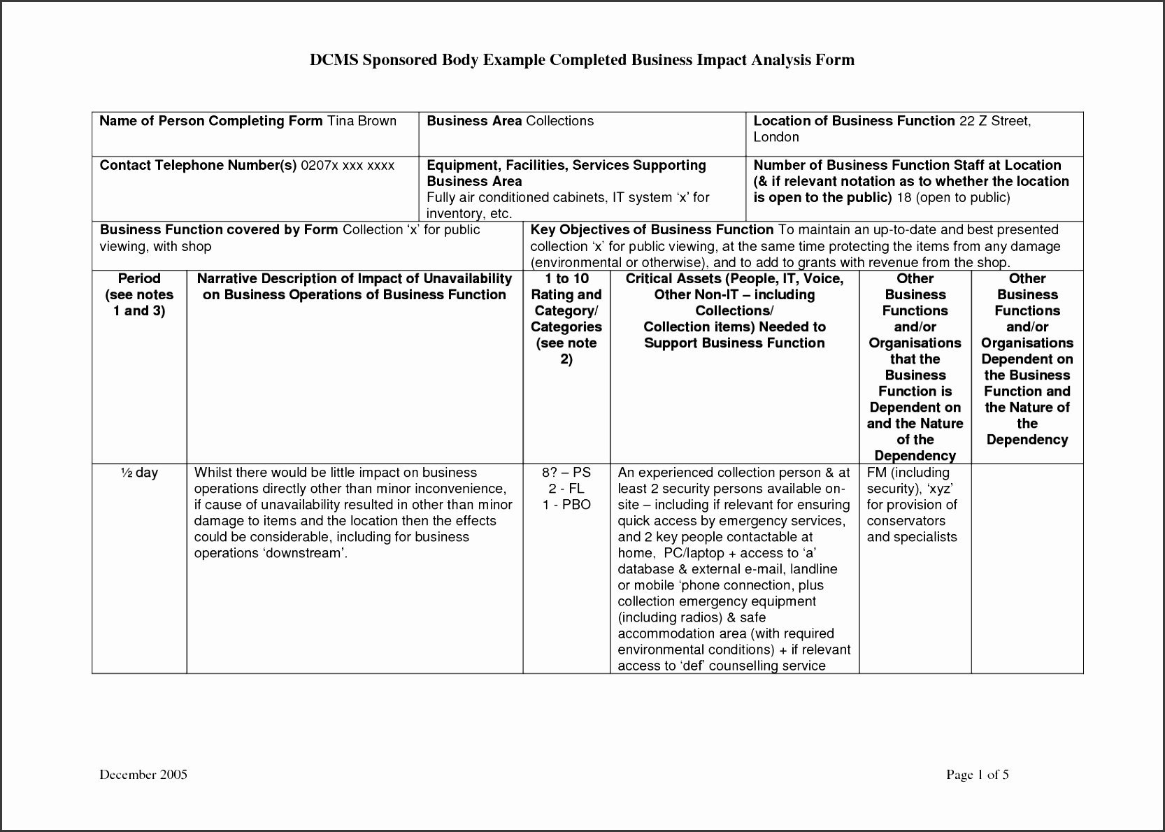Business Impact Analysis Template Excel New 8 Free Business Impact Analysis Template