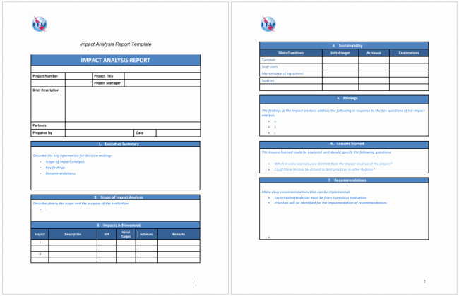 Business Impact Analysis Template Excel Unique 5 Impact Analysis Templates for Word Excel and Pdf