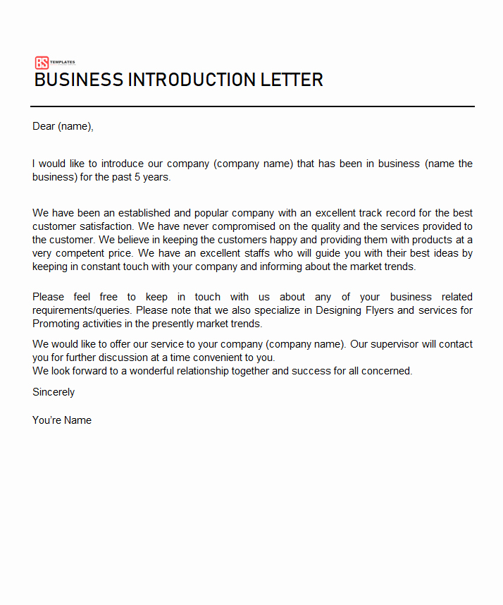 Business Introduction Letter Template Awesome Word Document Archives Business Templates