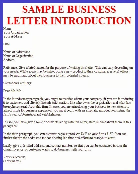 Business Introduction Letter Template Beautiful Business Letter Sample Yahoo Canada Image Search Results