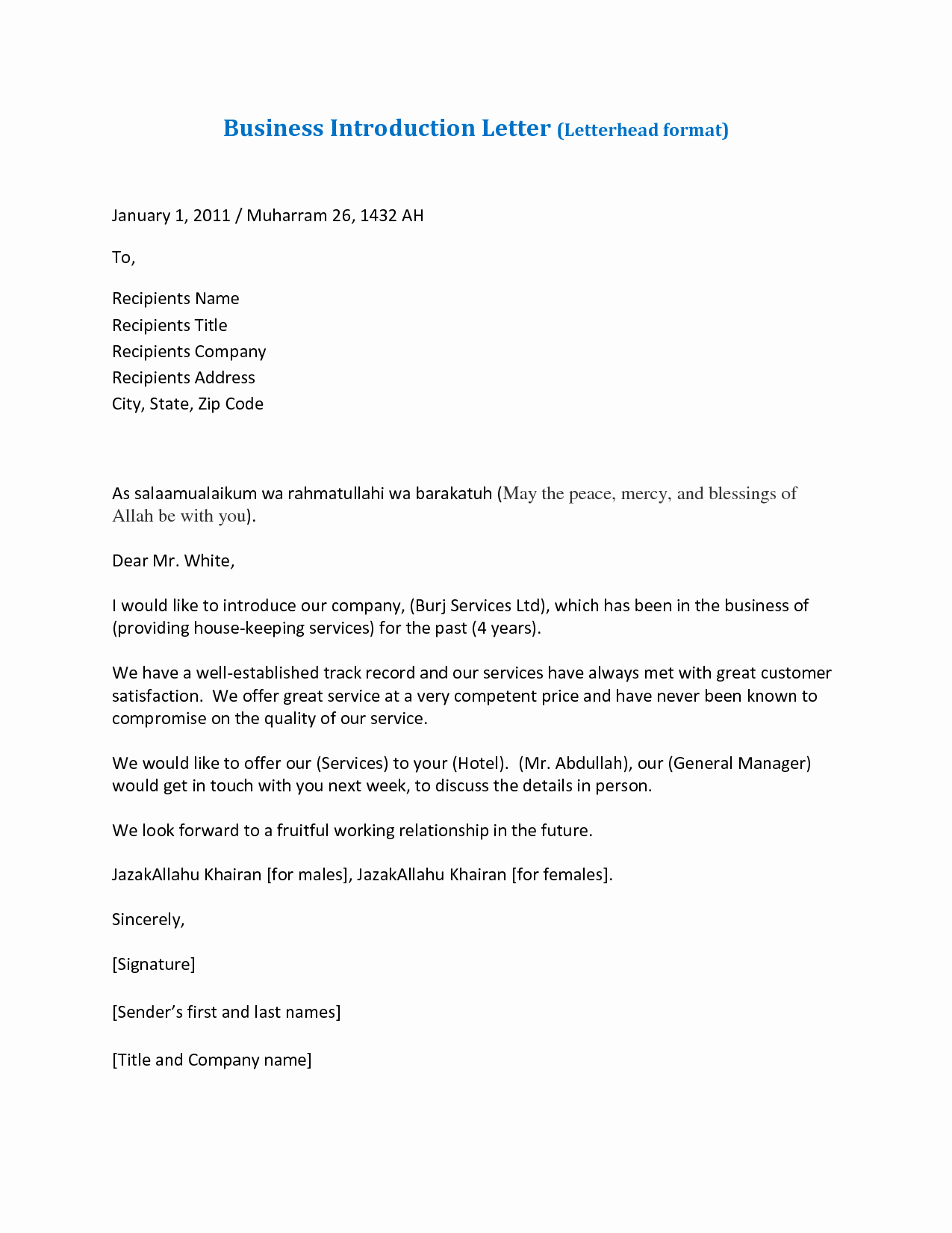 Business Introduction Letter Template Best Of Presentation Letters for Business