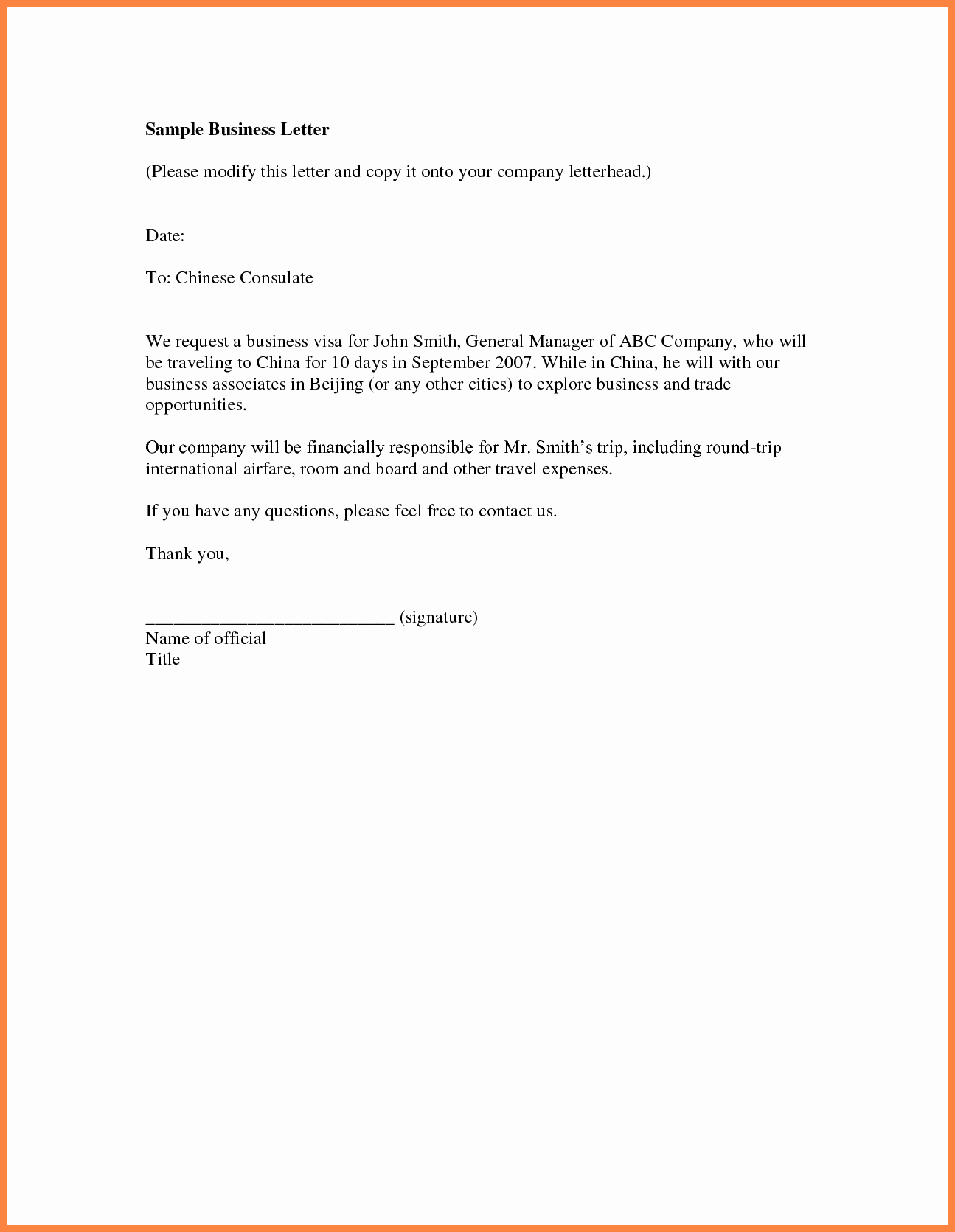 Business Introduction Letter Template New 7 Sample Pany Introduction Letter for Business