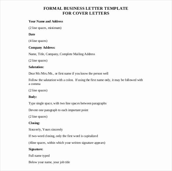 Business Letter Template Word Beautiful Explain the Layout Business Letter