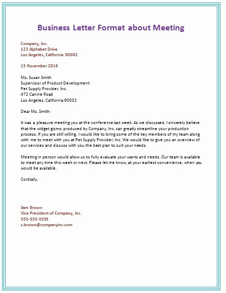 Business Letter Template Word Elegant Business Letter format Template Word