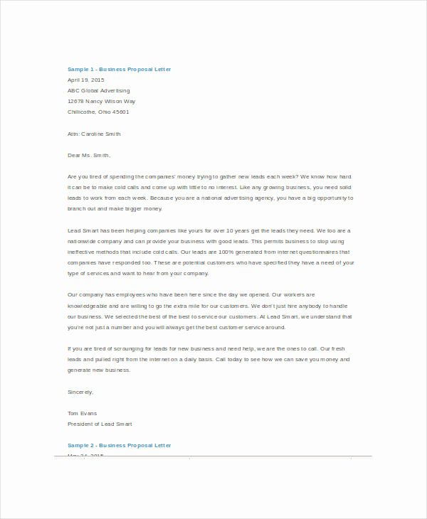 Business Letter Template Word Elegant Business Proposal Template Word 5 Free Sample Example