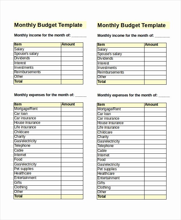Business Monthly Budget Template Beautiful 31 Excel Monthly Bud Templates Word Excel Pages