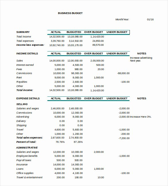 Business Monthly Budget Template Elegant 18 Sample Business Bud Templates Word Pdf Apple