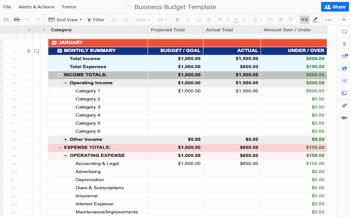 Business Monthly Budget Template Elegant Free Bud Templates In Excel