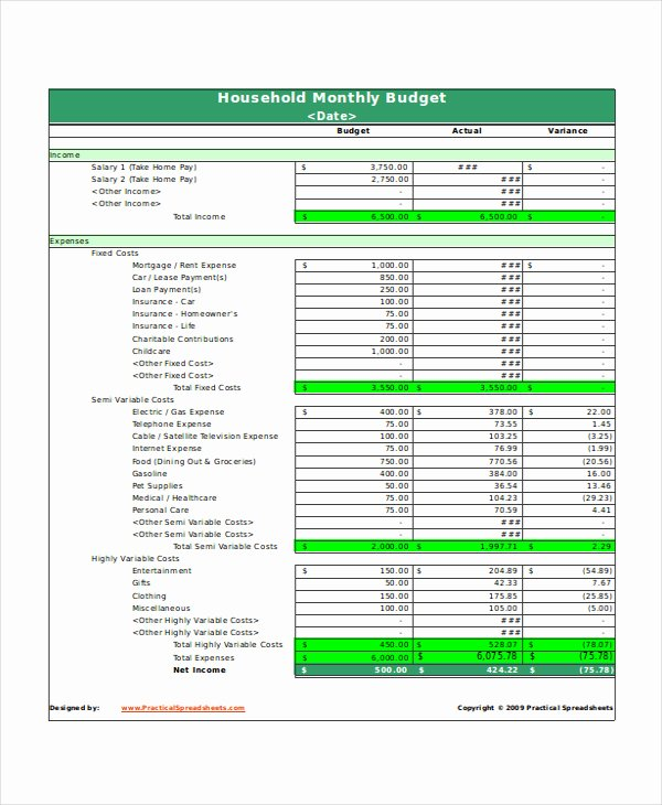 Business Monthly Budget Template Inspirational Excel Monthly Bud Template