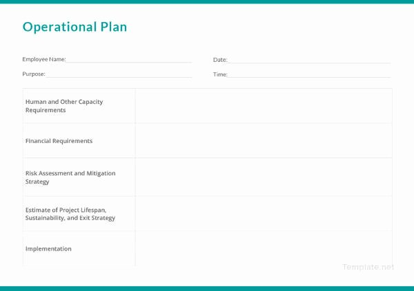 Business Operational Plan Template Best Of 11 Security Operational Plan Templates Pdf Doc