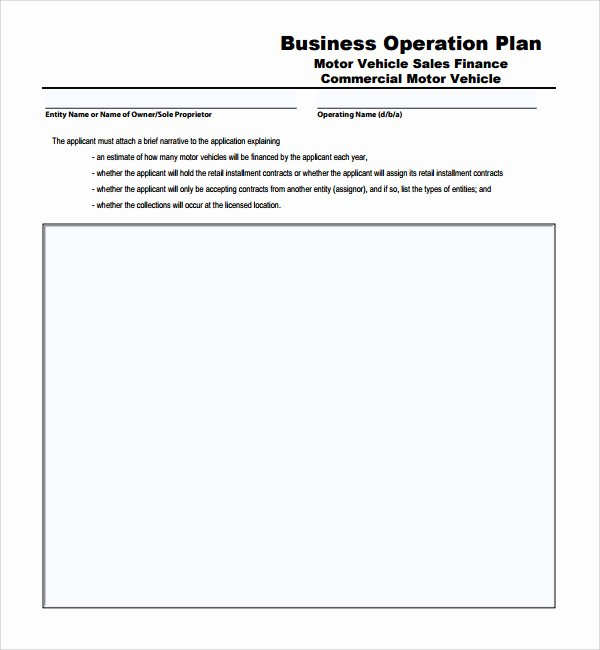 Business Operational Plan Template Best Of Sample Operational Plan Template 20 Free Documents In
