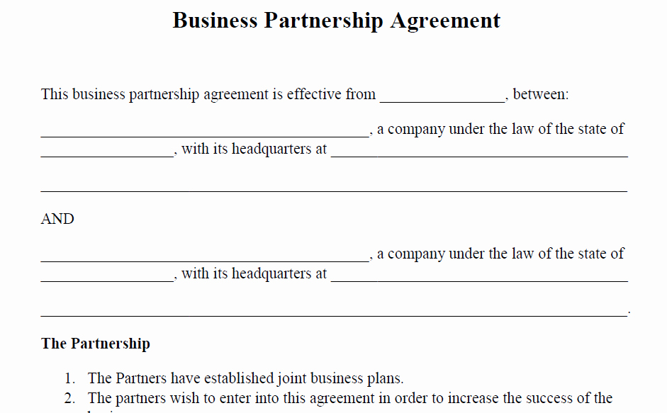 Business Partnership Agreement Template Free Beautiful Legal Agreements & Contracts Templates
