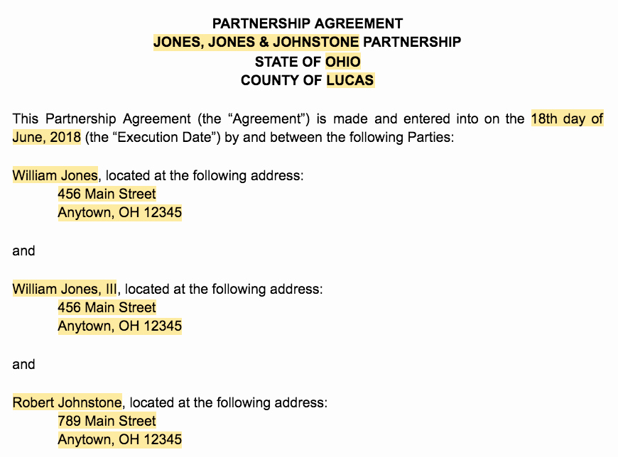 Business Partnership Agreement Template Free Lovely How to Create A Business Partnership Agreement [ Free
