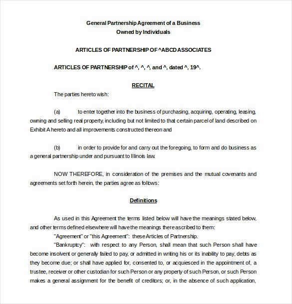 Business Partnership Agreement Template Free Luxury 21 Partnership Agreement Templates – Free Sample Example