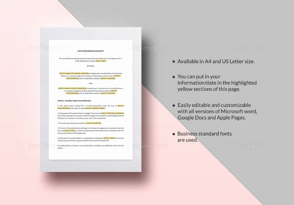 Business Partnership Separation Agreement Template Lovely Sample Business Separation Agreement Template 9 Free
