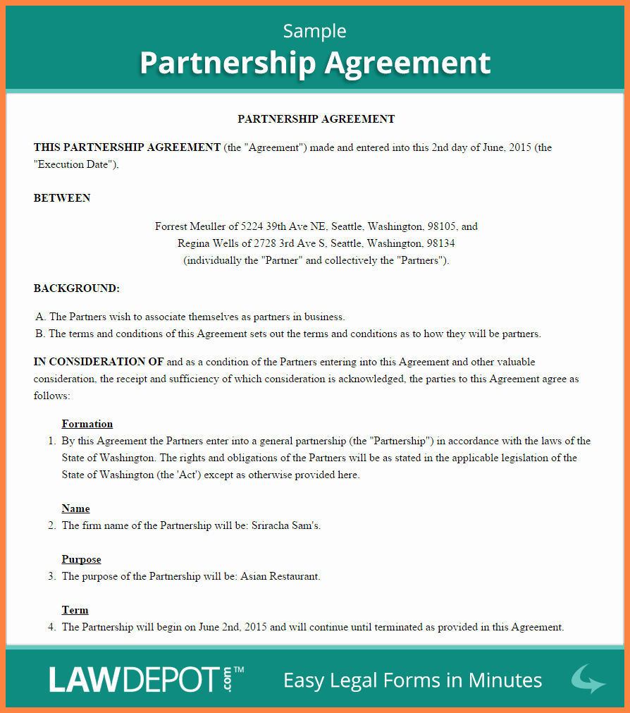 Business Partnership Separation Agreement Template Unique 5 Mon Law Separation Agreement Template Bc