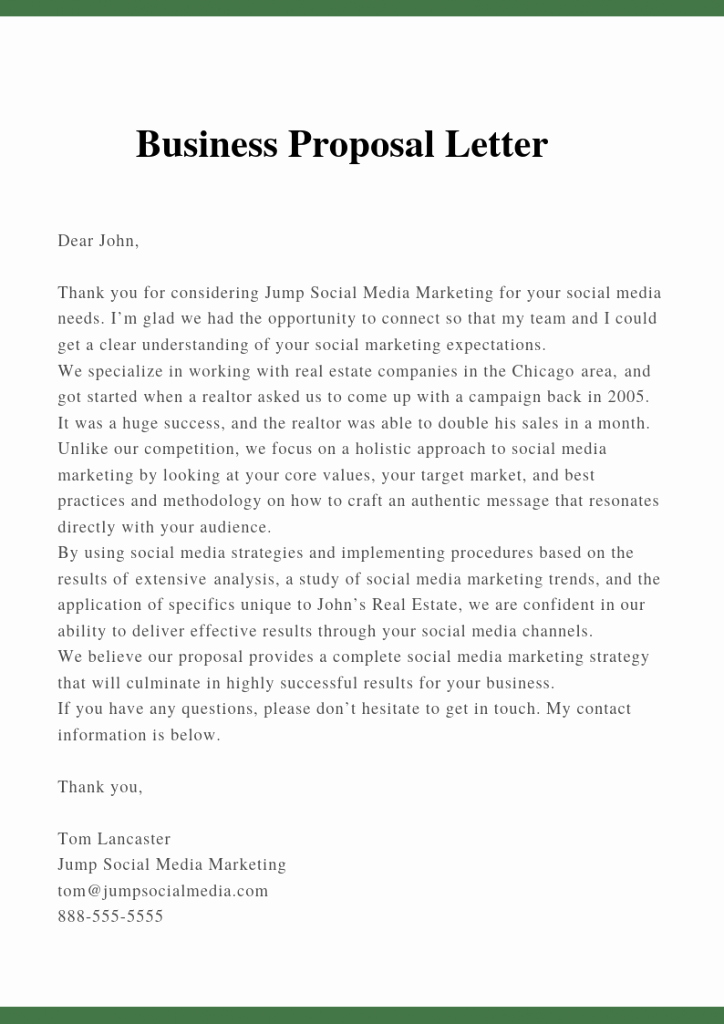 Business Proposal Letter Template Elegant Sample Proposal Letter Template for Business Pdf Doc
