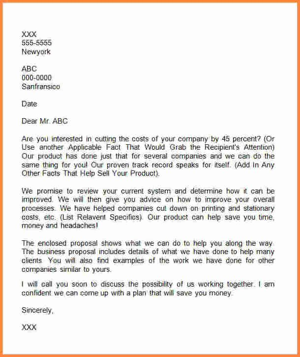 Business Proposal Letter Template Fresh 4 Ideas for Business Proposal
