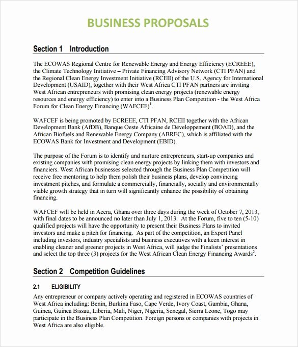 Business Proposal Template Doc Best Of Sample Business Proposal 24 Documents In Pdf Word