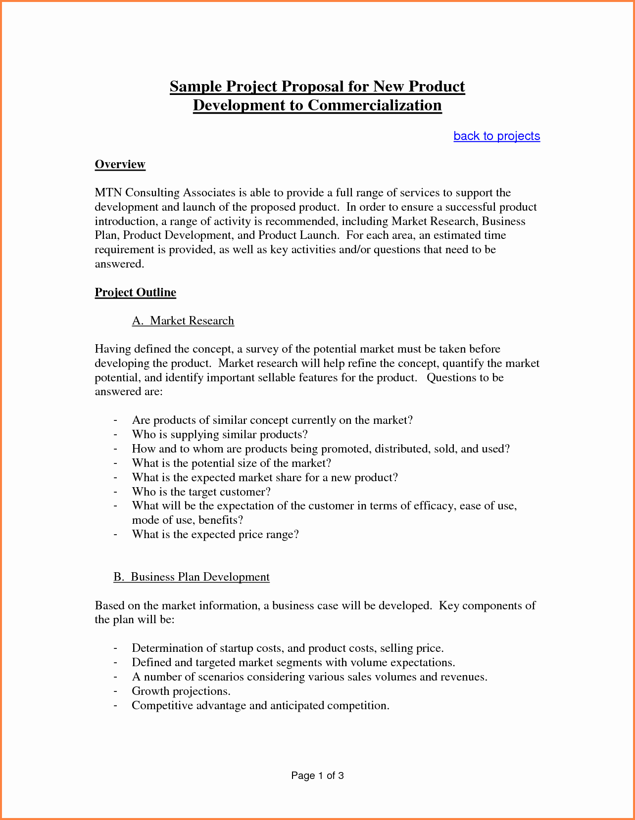 Business Proposal Template Doc Elegant 6 Sample Proposal Template for Project