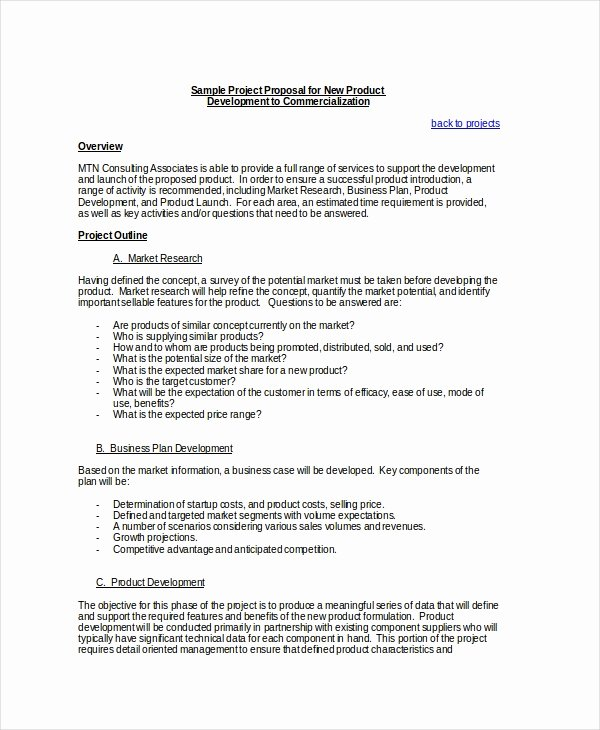 Business Proposal Template Doc Fresh Project Proposal Template 24 Free Word Pdf Psd