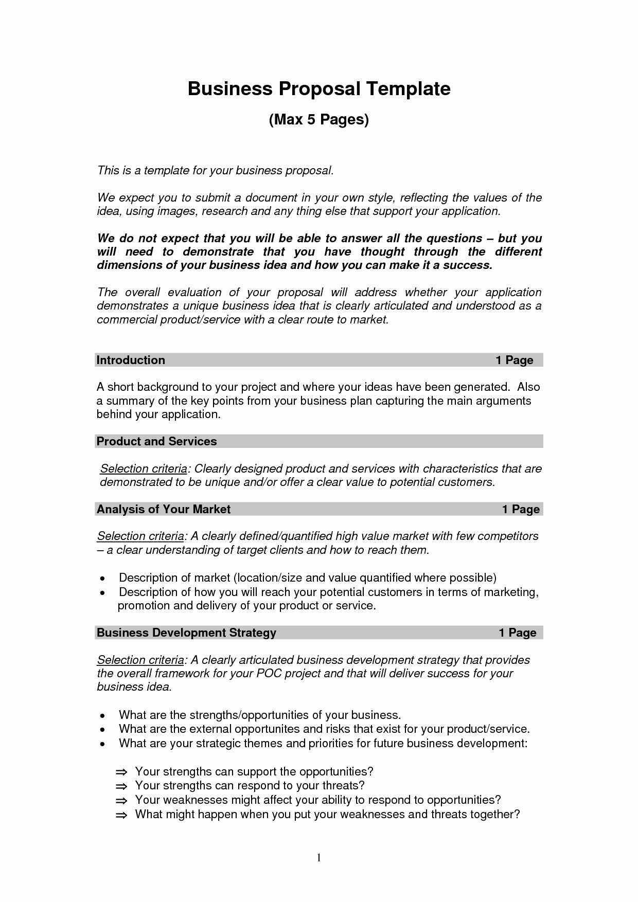 Business Proposal Template Pdf Awesome Business Proposal Templates Examples