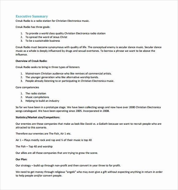 Business Proposal Template Pdf New Business Plan Sample Pdf