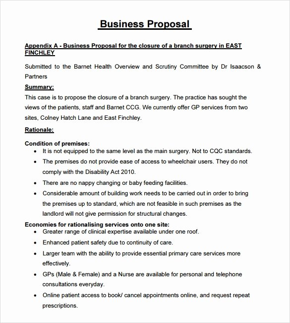 Business Proposal Template Pdf New Sample Business Proposal 24 Documents In Pdf Word