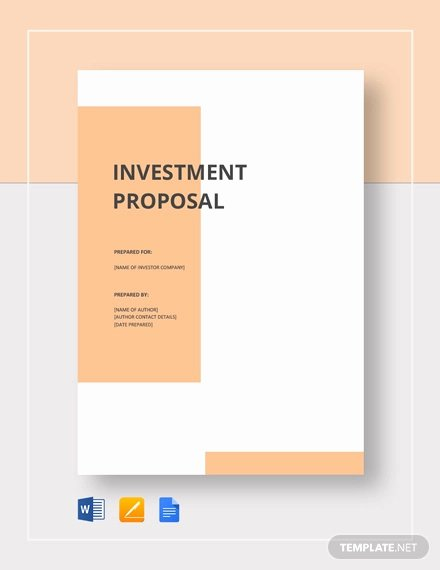 Business Proposal Template Pdf Unique Free 21 Investment Proposal Examples In Pdf