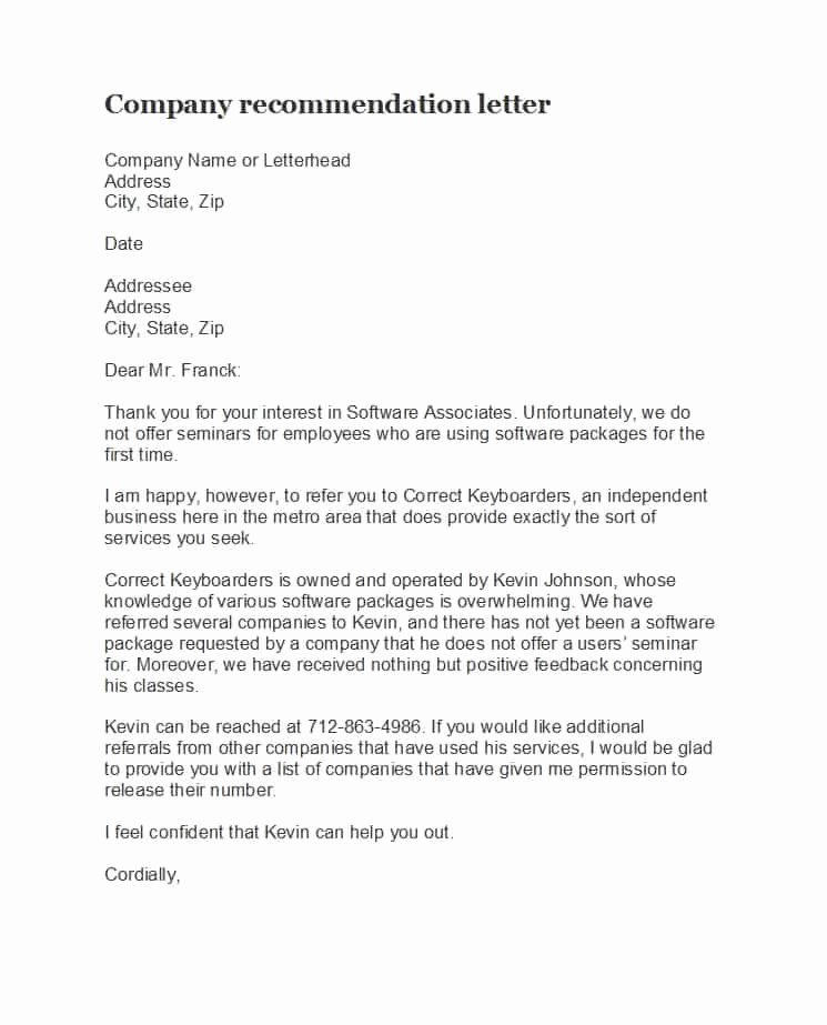 Business Reference Letter Template Best Of 45 Awesome Business Reference Letters Template Archive