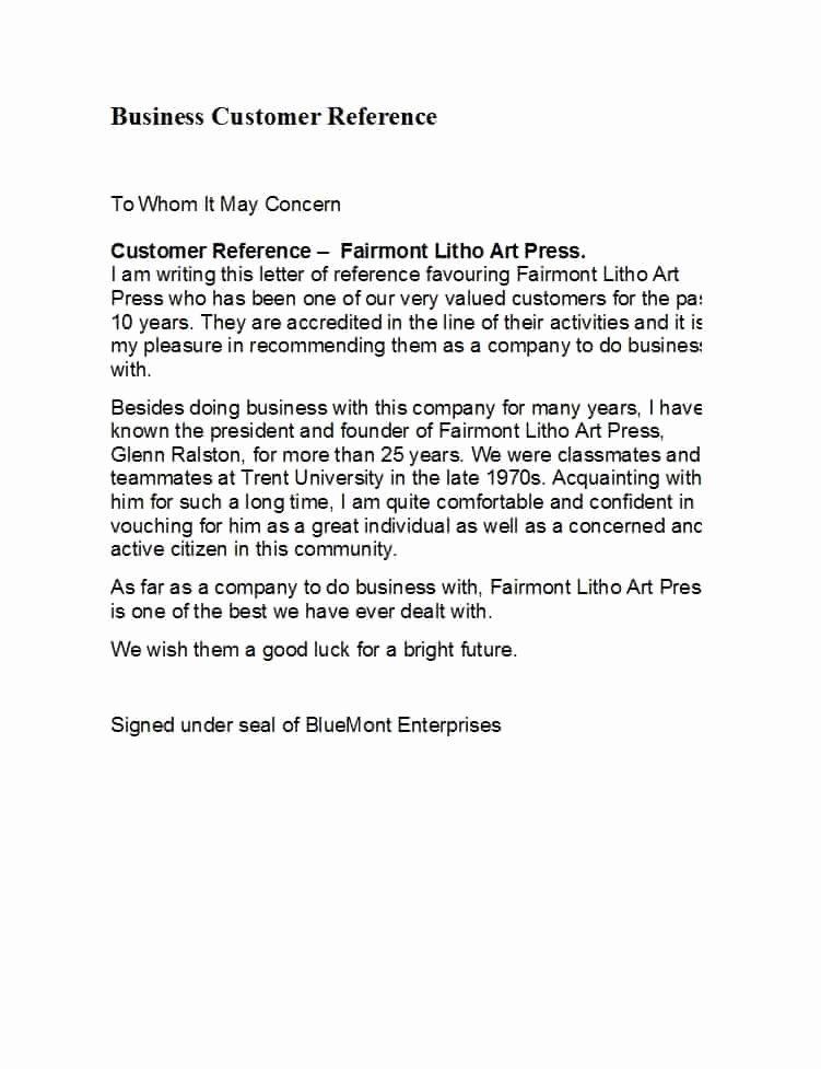 Business Reference Letter Template Inspirational 45 Awesome Business Reference Letters Template Archive