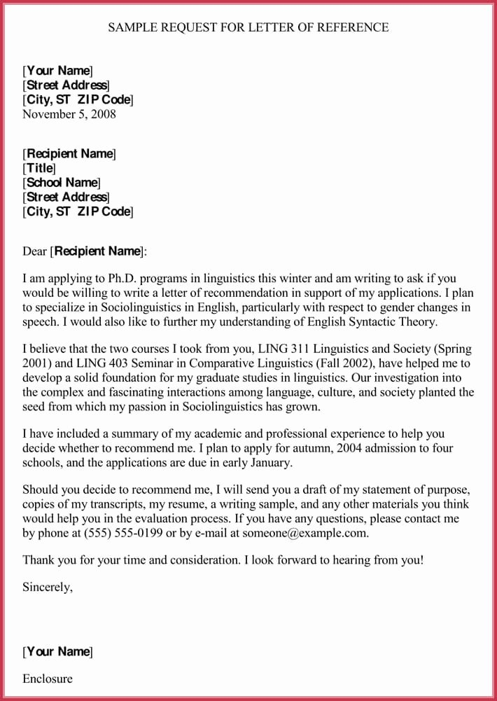 Business Reference Letter Template Unique formal Reference Letter format 8 Sample Letters and