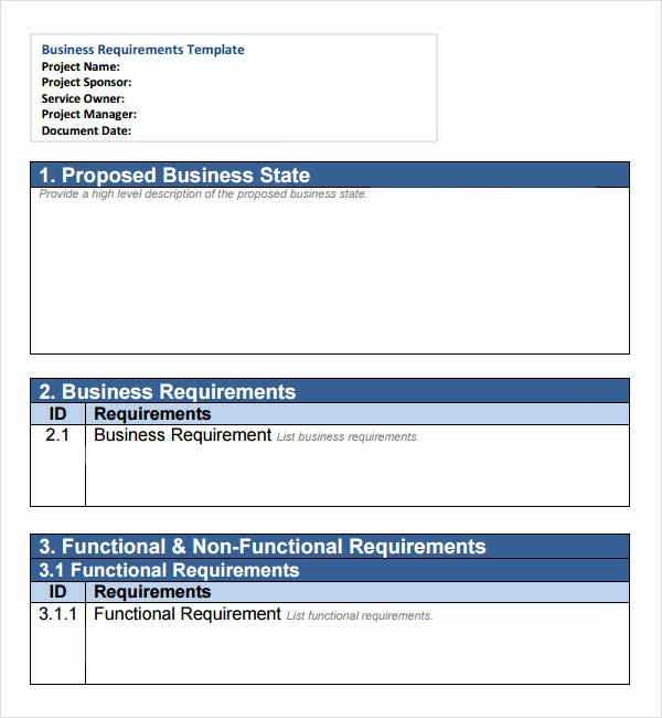Business Requirements Document Template Beautiful Free 6 Business Requirements Document Templates In Pdf