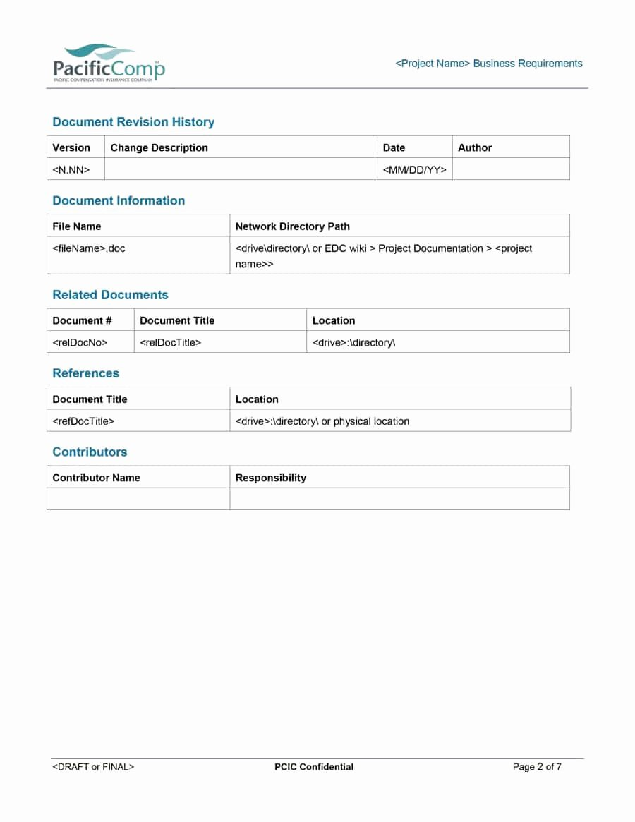 Business Requirements Document Template Best Of 40 Simple Business Requirements Document Templates