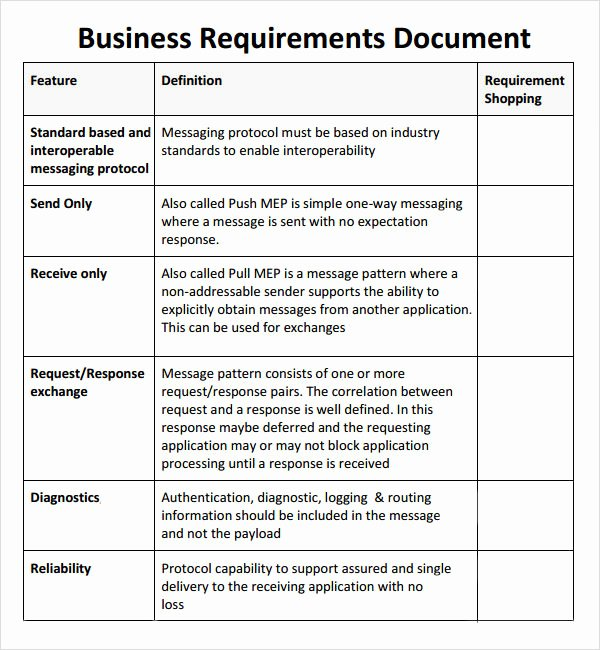 Business Requirements Document Template Best Of Free 6 Business Requirements Document Templates In Pdf