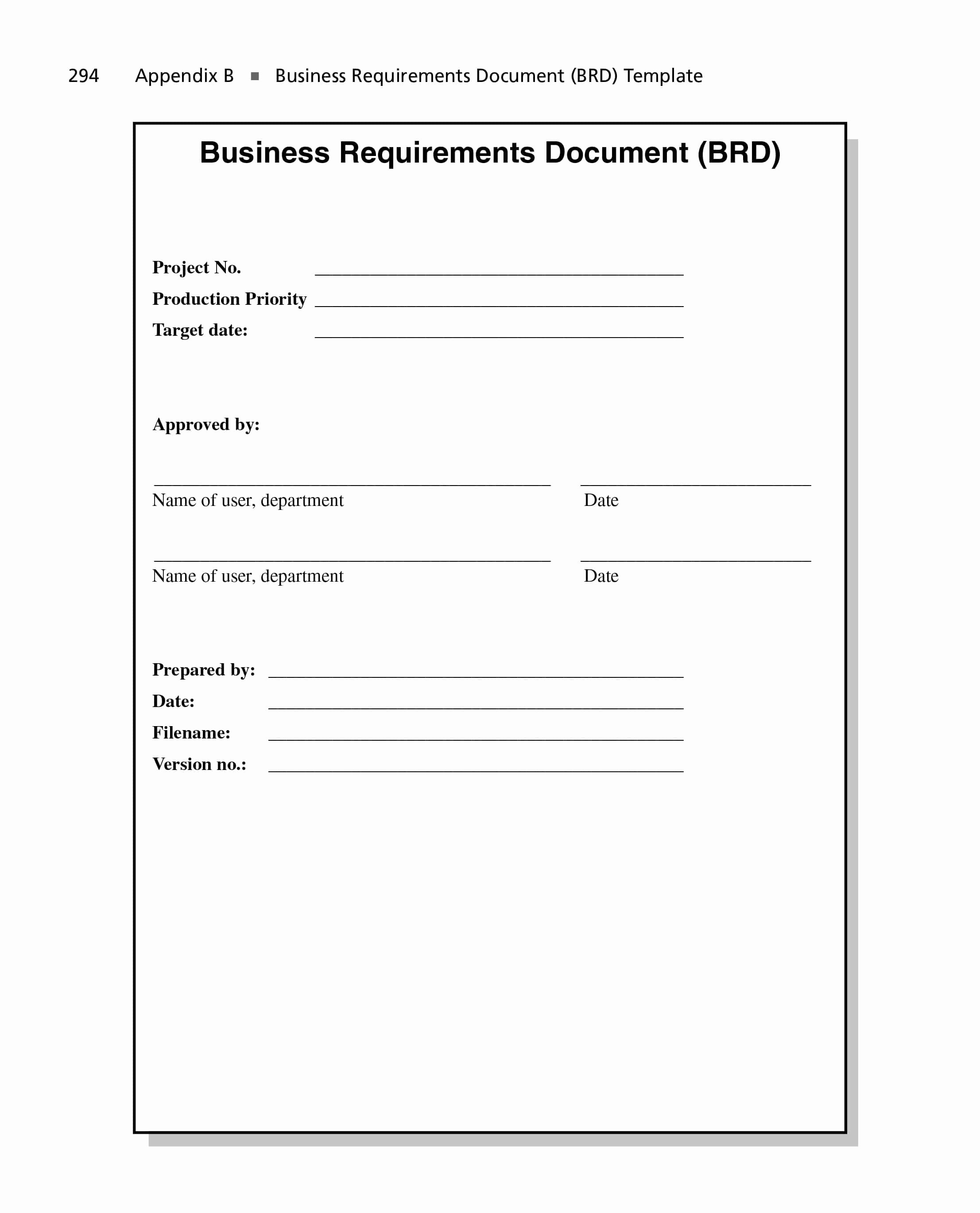 Business Requirements Document Template Luxury 40 Simple Business Requirements Document Templates