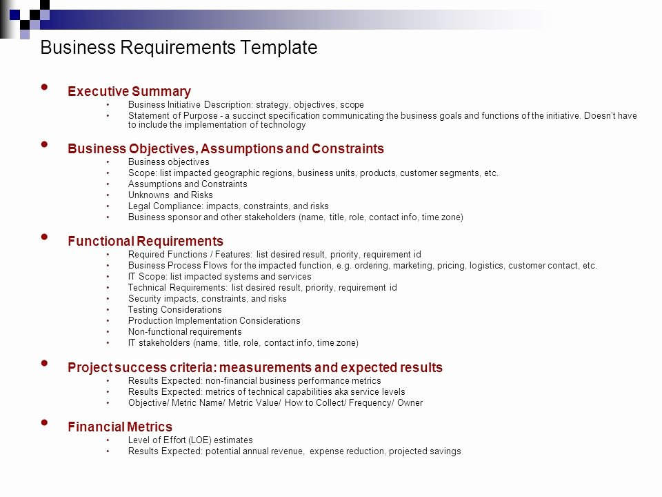 Business Requirements Document Template Unique How to Deliver A Technology Project Ppt