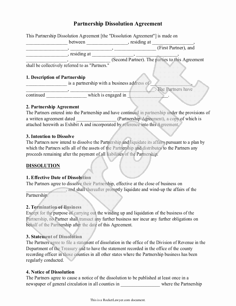 Business Separation Agreement Template Beautiful Business Partnership Separation Agreement Template