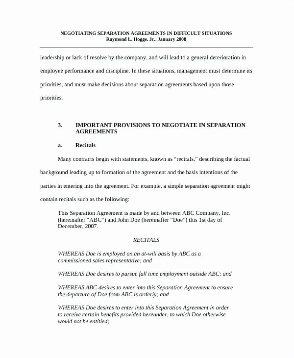 Business Separation Agreement Template Beautiful Ontario Separation Agreement Template