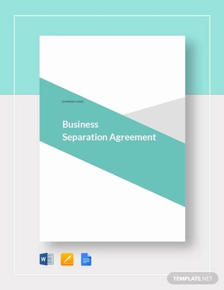 Business Separation Agreement Template Best Of Free 11 Separation Agreement Templates In Pdf