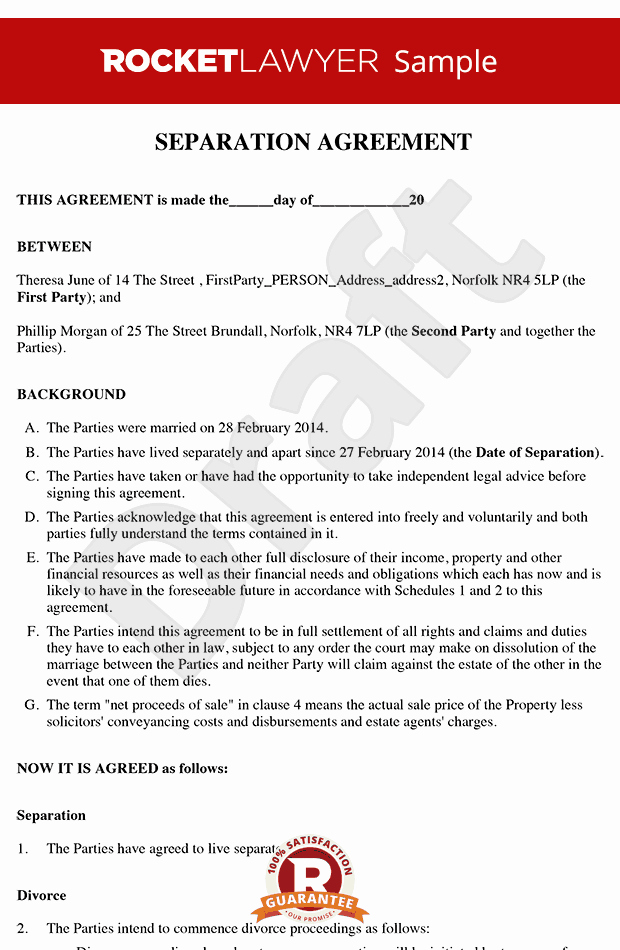 Business Separation Agreement Template Inspirational Business Partnership Separation Agreement Template