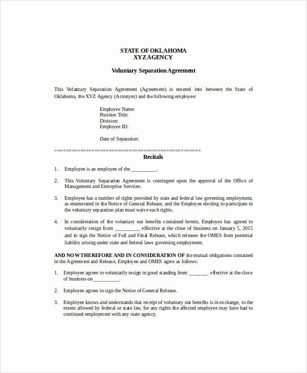 Business Separation Agreement Template Luxury 42 Business Agreement Samples Word Apple Pages Google